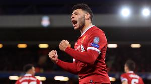 Liverpool midfielder Alex Oxlade-Chamberlain's recovery from a serious knee injury is ahead of schedule (Peter Byrne/PA).