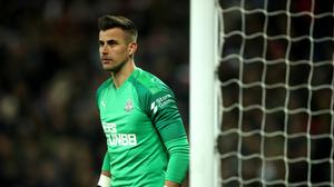 Newcastle keeper Karl Darlow, pictured, was set to replace the injured Martin Dubravka (Tim Goode/PA)
