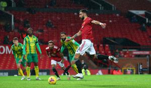 Bruno Fernandes scored from the spot at the second attempt (Alex Livesey/PA)