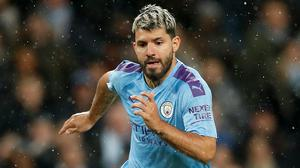 Sergio Aguero could be winning his fitness race ahead of Manchester City's clash with Real Madrid (Martin Rickett/PA)