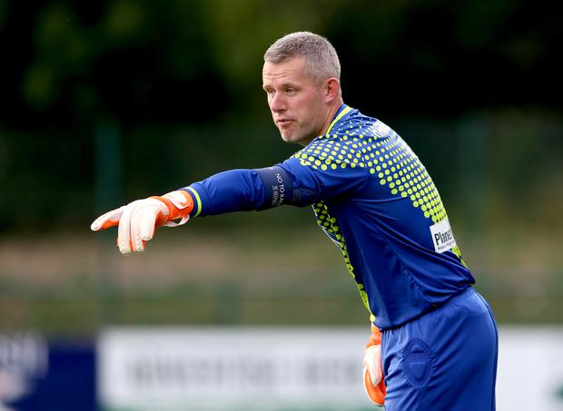 The New Saints goalkeeper Paul Harrison was part of the team who won 27 matches in a row (Barrington Coombs/PA)
