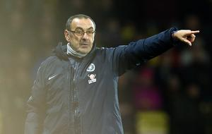 Maurizio Sarri insisted Callum Hudson-Odoi was injured when he was replaced late on at Watford (Steven Paston/PA)