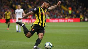 Andre Gray will return to the Watford fold on Saturday (Nigel French/PA)