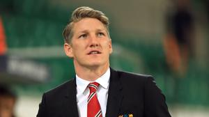 Bastian Schweinsteiger trained with the Manchester United first team on Monday