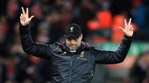 The statistics offer encouragement to Jurgen Klopp and Liverpool (Peter Byrne/PA)