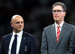 Tottenham chairman Daniel Levy and Liverpool owner John W. Henry have both faced fan pressure (Mike Egerton/PA)