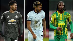 Marcus Rashford, Reece James and Romaine Sawyers have all been targeted by racist abuse on social media ( Alastair Grant/Tim Keeton/Richard Sellers/PA).