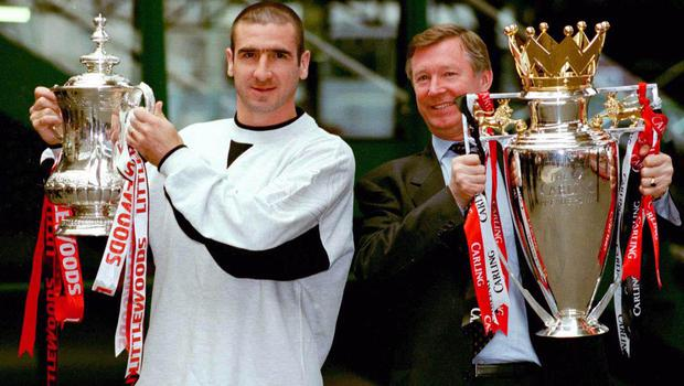 Eric Cantona (left) became a central figure within the United squad after being signed by Sir Alex Ferguson in November 1992. (Peter Wilcock/PA Images)