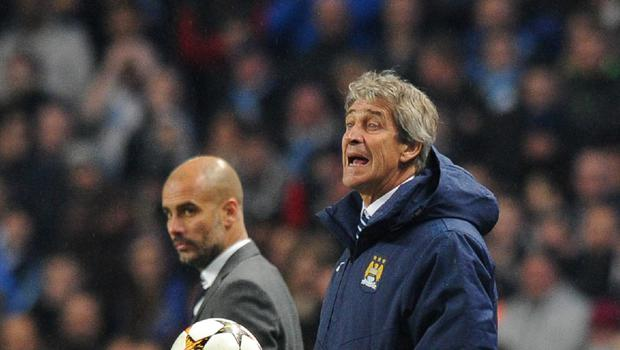 Manchester City manager Manuel Pellegrini (right) has not ruled out January signings