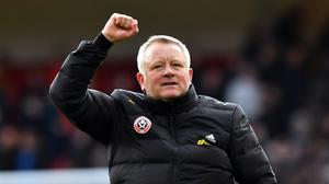 Chris Wilder said his side will travel to Aston Villa on three buses and get changed in the media room (Anthony Devlin/PA)