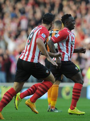 Victor Wanyama, right, has scored Premier League goals for Southampton and Tottenham (Anna Gowthorpe/PA)