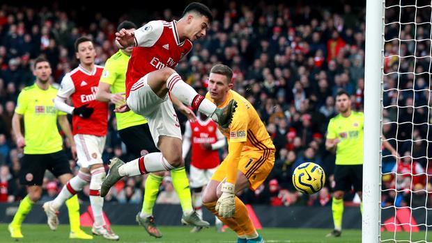Arsenal's Gabriel Martinelli scored his side's only goal of the game (Adam Davy/PA)