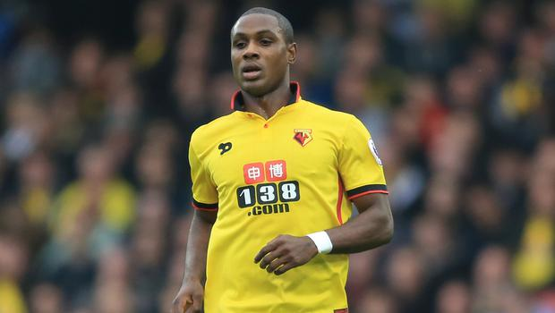 Odion Ighalo is in line for his Manchester United debut against Chelsea (Nigel French/PA)