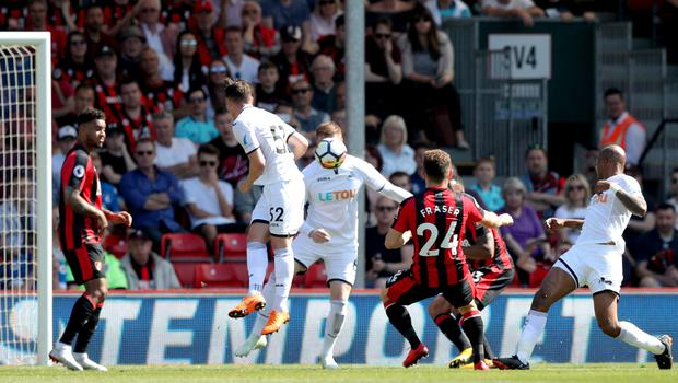 Ryan Fraser curled home from 20 yards to give Bournemouth the lead
