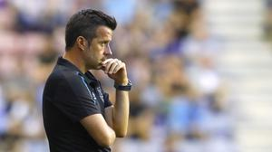 Marco Silva insists he is happy with Everton's transfer business (Martin Rickett/PA)