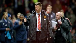 Louis van Gaal will be up against a familiar face on Monday night