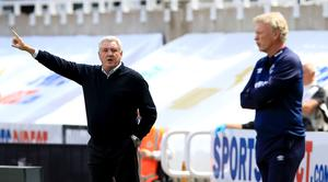 Steve Bruce (left) is delighted with his side (Owen Humphreys/NMC Pool/PA)