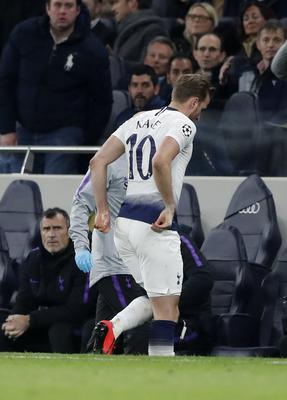Harry Kane leaves the field against Manchester City (AP)