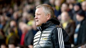 Chris Wilder was released by Steve Bruce as a player when the current Newcastle boss was in charge at Bramall Lane (Joe Giddens/PA)