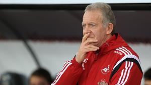 Swansea manager Alan Curtis says his players are angry after their controversial midweek defeat to relegation rivals Sunderland.