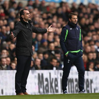 Tottenham manager Tim Sherwood, right, has praised the summer transfer dealings of Everton counterpart Roberto Martinez, left