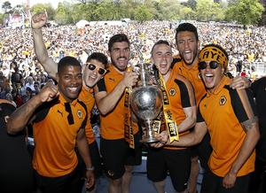 Jota helped Wolves win the Championship title in 2018 (Martin Rickett/PA)