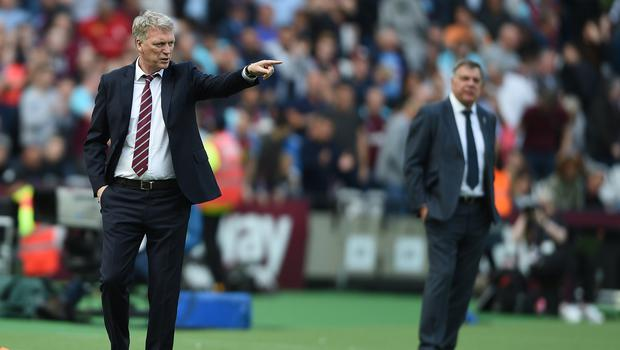 David Moyes, left, is out of contract while Sam Allardyce faces speculation