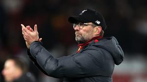 Liverpool manager Jurgen Klopp has guided the Reds to the brink of the Premier League title (Peter Byrne/PA)