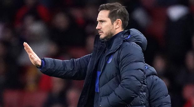 Frank Lampard saw his team come from behind at the Emirates (John Walton/PA)