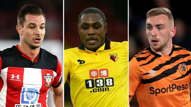 Cedric Soares,Odion Ighalo and Jarrod Bowen are all on the move (Steven Paston/Mike Egerton/PA)