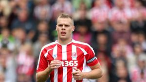 Stoke skipper Ryan Shawcross, pictured, has played every minute of every game for the club this season