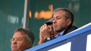Chelsea iowner Roman Abramovich, right, has injected more funding into the club