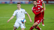 Early strides: Charlie Allen captained Leeds Under-21s in this week's EFL Trophy clash with Accrington Stanleytheir
