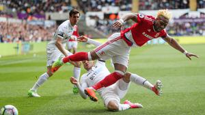 Adama Traore could not make a breakthrough for Middlesbrough