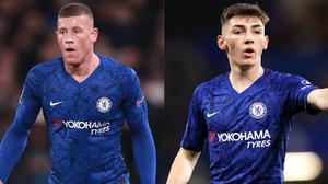 Ross Barkley, left, has hailed Billy Gilmour, right, after the 18-year-old's star turn for Chelsea (Adam Davy/John Walton/PA)