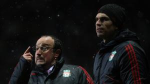 Rafael Benitez (left) and Mauricio Pellegrino worked together at Liverpool, and later at Inter Milan