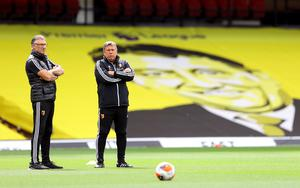 Nigel Pearson (left) and assistant Craig Shakespeare both look set to leave Vicarage Road (Richard Heathcote/NMC Pool/PA)