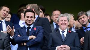 Roy Hodgson, right, has talked up the job done by Frank Lampard at Chelsea (Adam Davy/PA)