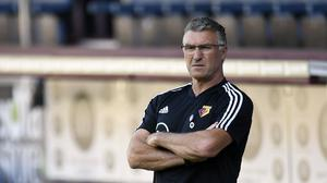 Nigel Pearson saw his Watford side beat Norwich on Tuesday night (Peter Powell/NMC Pool)