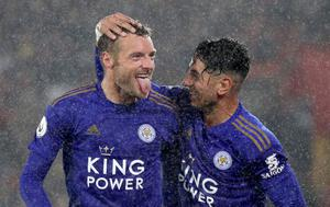 Ayoze Perez, right, and Jamie Vardy hit hat-tricks at St Mary's in October as rampant Leicester demolished sorry Southampton to equal the biggest win in Premier League history. Strikes from Ben Chilwell, Youri Tielemans and James Maddison helped inflict the heaviest defeat in Saints' 134-year existence as the Foxes emulated Manchester United's 9-0 success over Ipswich in March 1995 (Andrew Matthews/PA)