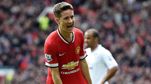 Manchester United midfielder Ander Herrera insists he is very happy at the club and wants to stay for years to come