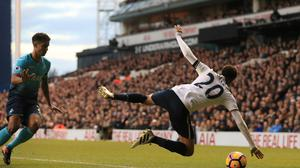 Dele Alli won a controversial penalty against Swansea on Saturday.