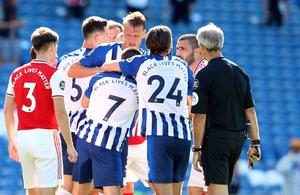 Arsenal and Brighton were both warned by the Football Association following the scenes at the end of their Premier League game (Gareth Fuller/NMC Pool)