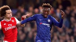 Chelsea are still sweating on the extent of the ankle injury to Tammy Abraham (Bradley Collyer/PA)