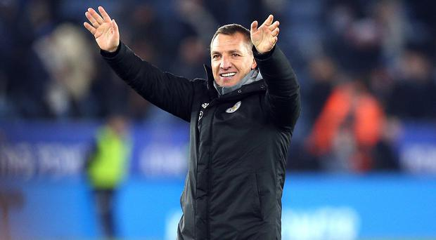 Brendan Rodgers insists he is staying at Leicester (Nigel French/PA)