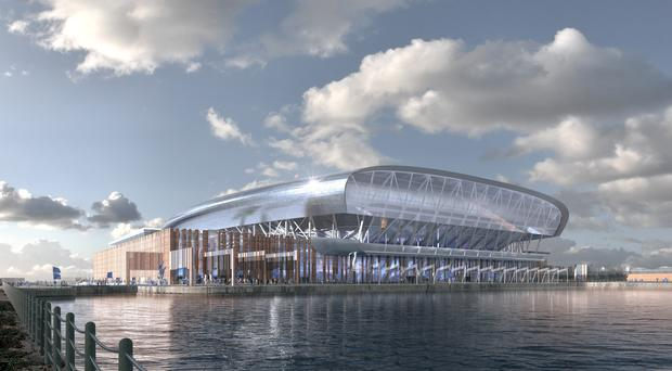 The final design of Everton's proposed new stadium at Bramley-Moore Dock (Everton/PA)