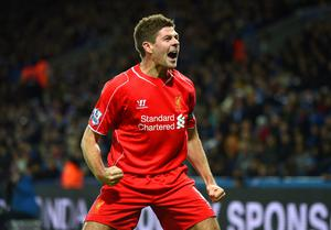 Bench work: Steven Gerrard could face time as a substitute