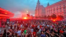 Danger signs: thousands of Liverpool fans gather illegally on Friday night