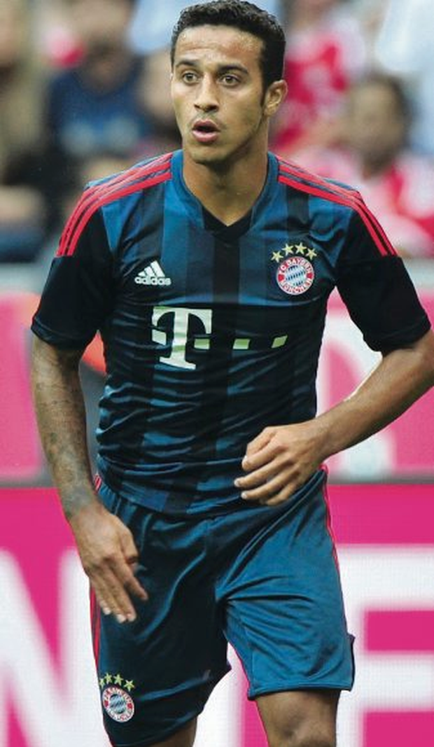 Thiago Alcantara in action