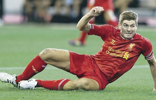 Captain marvel: Steven Gerrard will aim to keep Liverpool's fine form going against Everton at Goodison Park